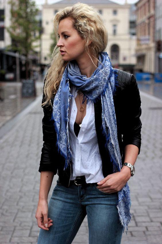 lenço tipo echarpe