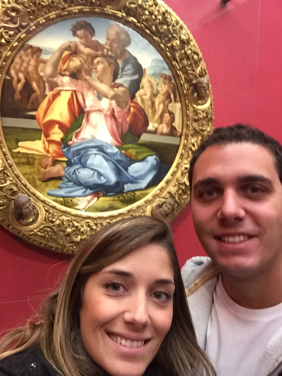A Sagrada Família de Michelangelo. Tondo - quadro redondo que era costume dar em casamentos para colocar acima da cama.