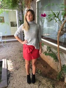 saia: Zara/ tricot: Costume