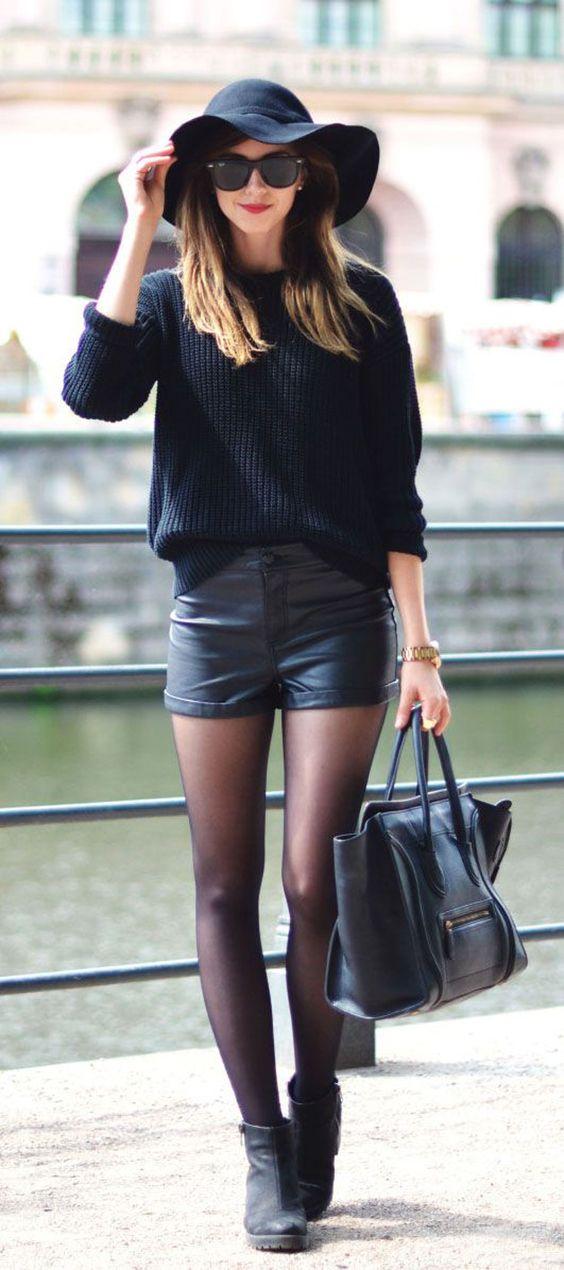 shorts couro