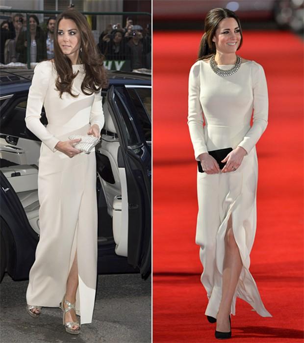 É elegante você usar roupa mais de uma vez, pode varia os acessórios assim como fez Kate que repete com a maior nobreza várias roupas