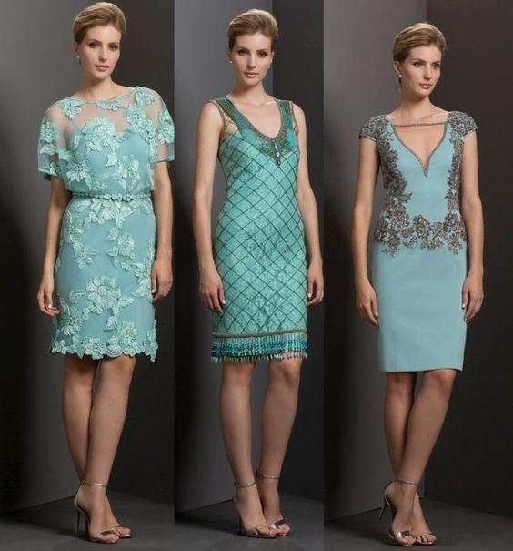 Você também poderá estar muito elegante com um vestido curto em um casamento a noite.